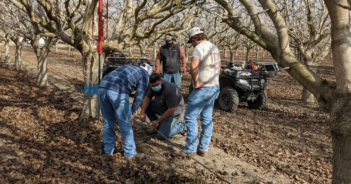 soil moisture probe installation